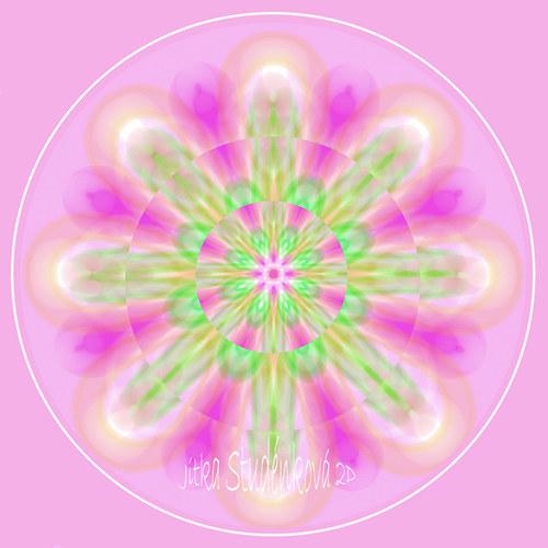 Mandala č.9 - K narození holčičky