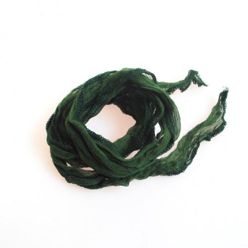 Hedvábná šňůrka široká / brčálově zelená