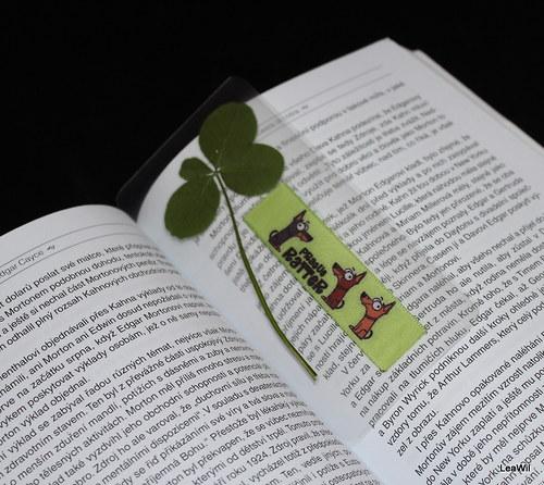 Čtyřlístková záložka do knihy krysařík