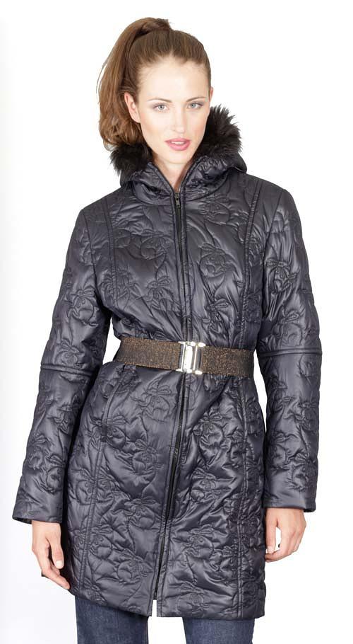 Kabát Huet - tmavý prošev 0369