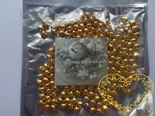Zlaté rolničky - Ø 8 mm - sada 200 ks