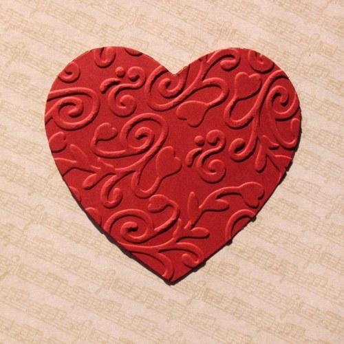 Embosované srdce velké