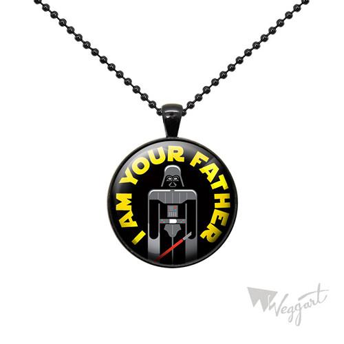 Přívěsek černý / I am your father / 30mm