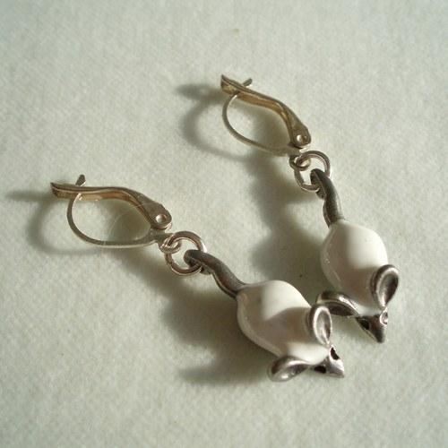 Bílé myšky na stříbře