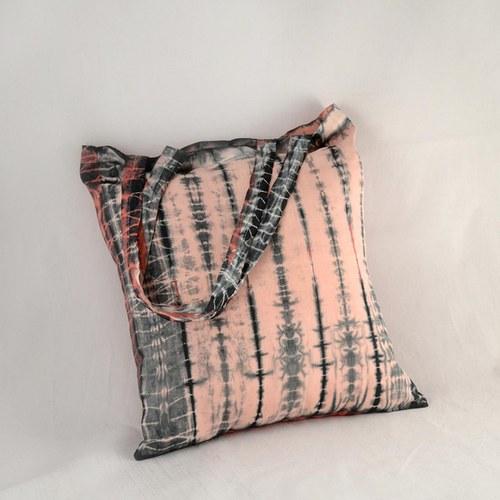 Batikovaná taška růžovo-černá