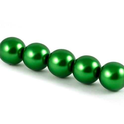 Voskové perle - tmavě zelená