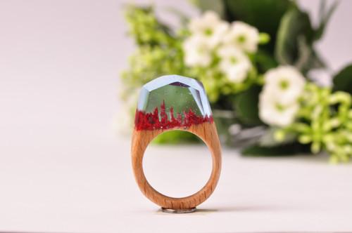 Drevený prsten Mirage