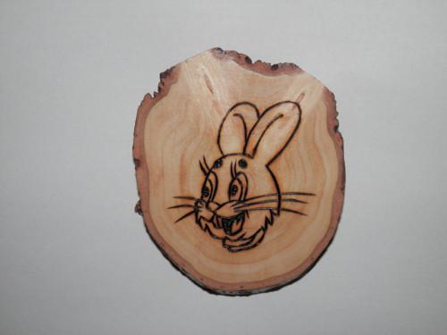 Dřevěný koláč 3 - zajíček