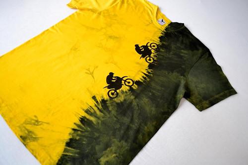 Motorkářské triko žluto-černé XXL