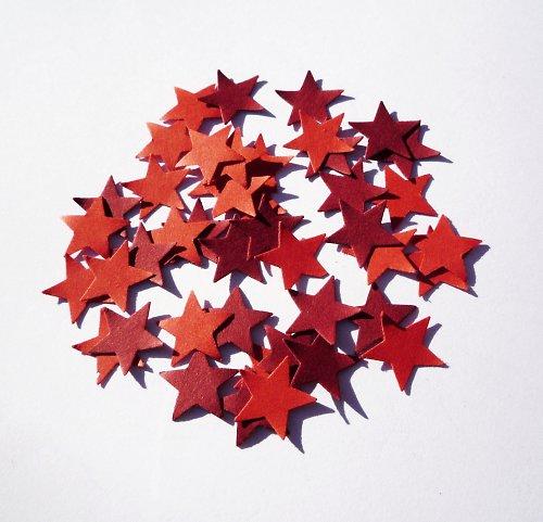 Hvězdičky červené (40 ks)