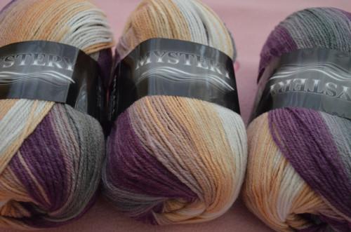 MYSTERY fialovo-šedo-hnědo-bílý melír