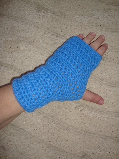 Bezprstové rukavice modré