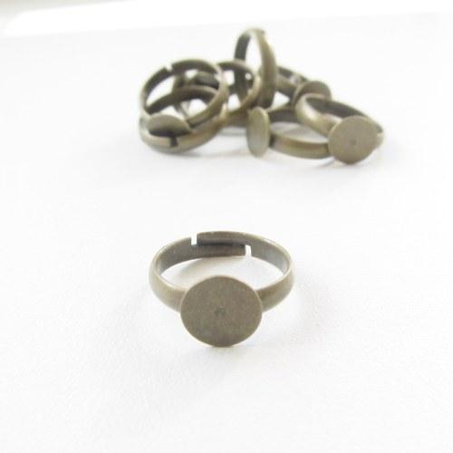 Prsten s ploškou starozl.,14mm vnitřní průměr-4 ks