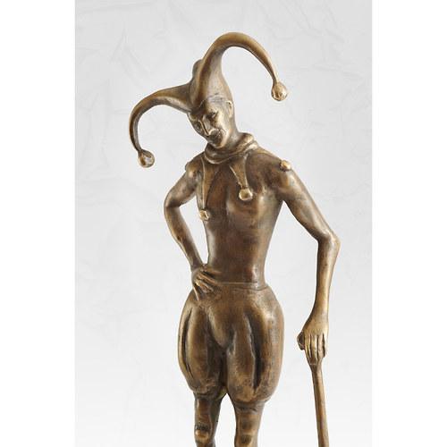 Šašek - bronzová socha - originál