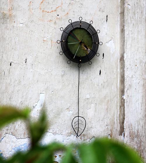 Lesní rozbřesk... kyvadlové drátované hodiny