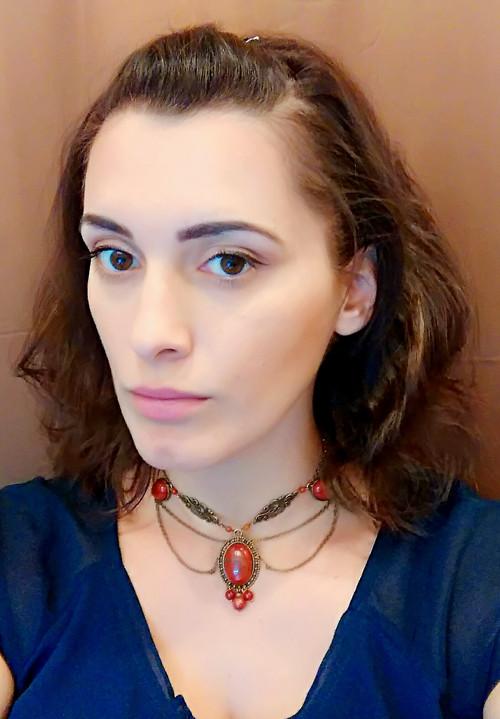 Queen Elisabeth - Starobylý náhrdelník s jaspismi