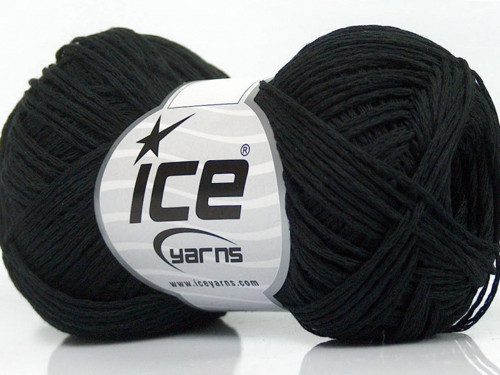Cotton Chain Fine Black 50g Ice Yarns