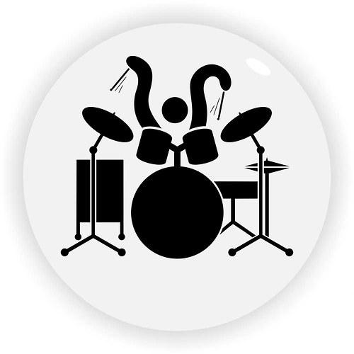 Magnetka rozpohybovaný bubeník