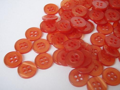 knoflíček oranžový 10 ks