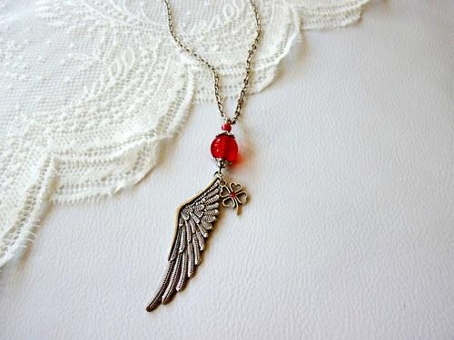 Náhrdelník  - andělské křídlo pro štěstí