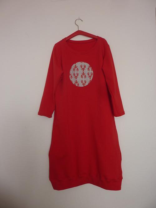 Mikino šaty v červené barvě,vel. XS-XL