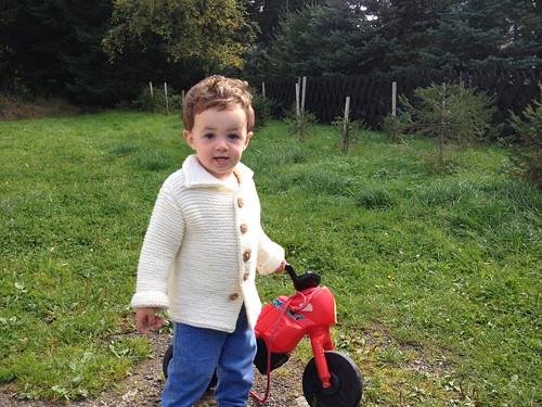 Dětský kabátek-svetřík přírodní