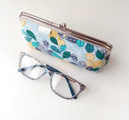 Peněženka XL/pouzdro na brýle Tyrkysové lístečky