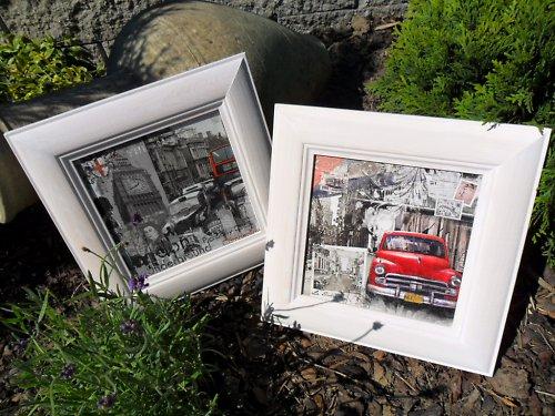 Sada dvou obrázků - bílý rámeček