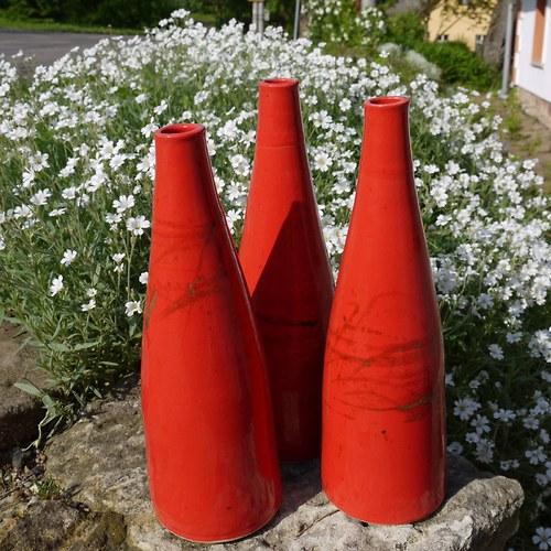 Váza Píšťala 26 cm- Ohnivý rej 1
