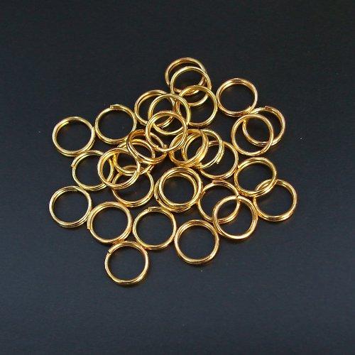 Spojovací kroužky zlaté dvojité 5 mm