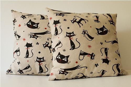 Povlak na polštářek - kočičí