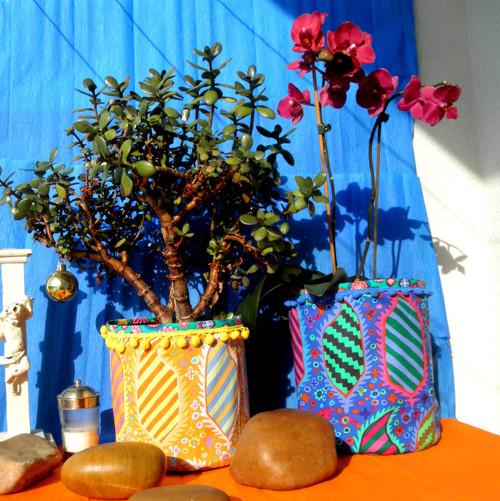 Mexiko září barvami - obal na květináč