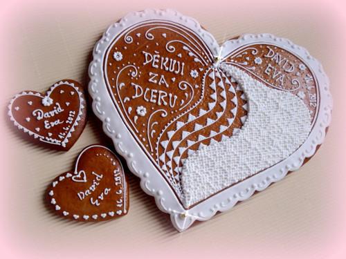 Děkovací srdce s čipováním