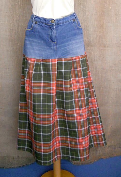 Riflová sukně dlouhá