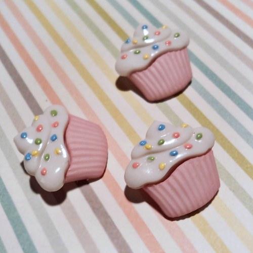 KNOFLÍK dortík růžový se šlehačkou 1,7cm