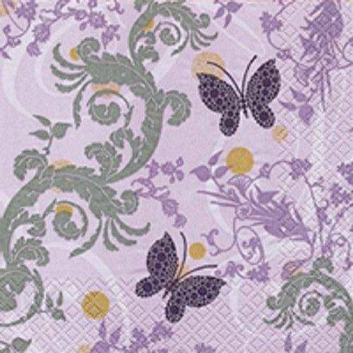 """ubrousek, motiv \""""Motýlek ornament lila\"""""""
