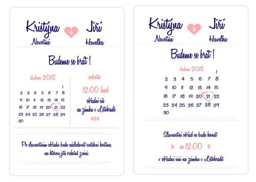 Svatební oznámení pro K&J