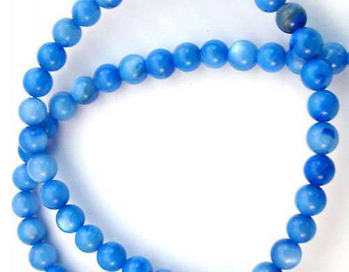 Perleťové korálky modré 10ks