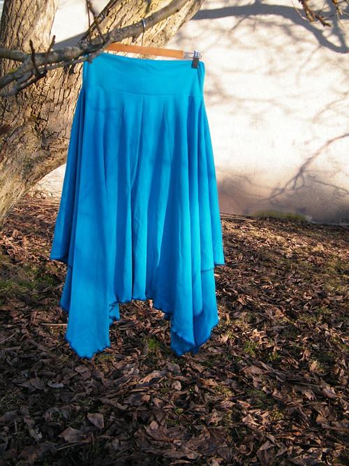 Cípatá sukně tyrkysová