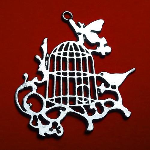 Stříbrný přívěsek - velká ptačí klícka, VÝPRODEJ!