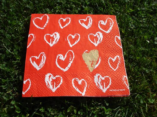 Ubrousek gold heart