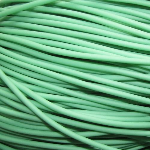 Bužírka zelená, 3 mm, 5 m