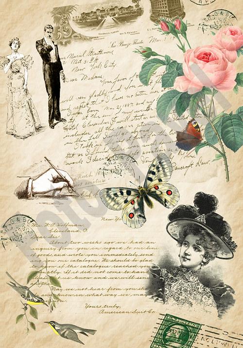 Vintage motiv - dopis