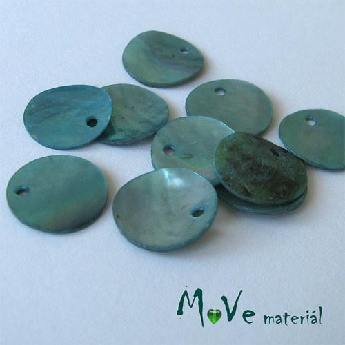 Perleťové penízky 13mm, 10ks, tyrkysové