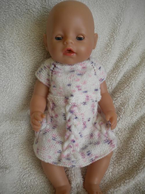 Pletené šatičky pro Baby Born