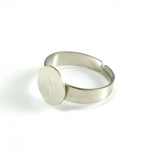 Základ na prsten platinový, lůžko 10 mm