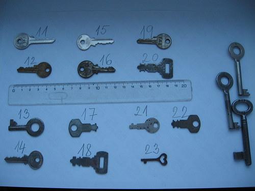 Staré klíče,různé druhy