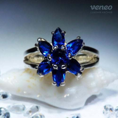 Orchidea - safírový prsten