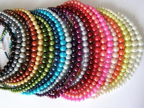 perličkový náhrdelník - perla 22barev