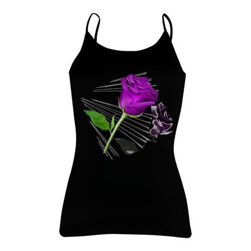 Tričko s potiskem - růže odraz